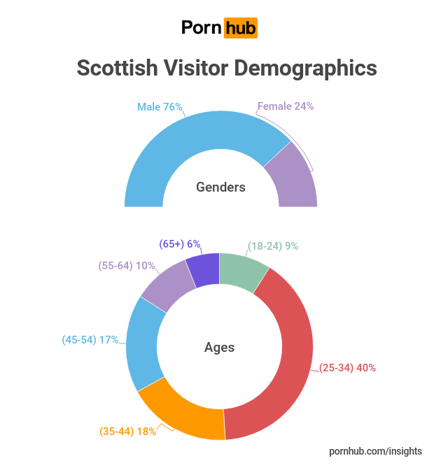 The Scottish visitor demographics tells us a lot about those viewing porn in Scotland